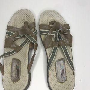 Skechers Outdoor Lifestyle sandal size 10 tan/blue